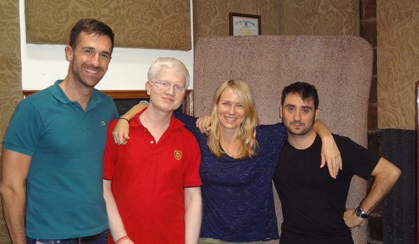With King Kong start Naomi Watts at our studio after an ADR session